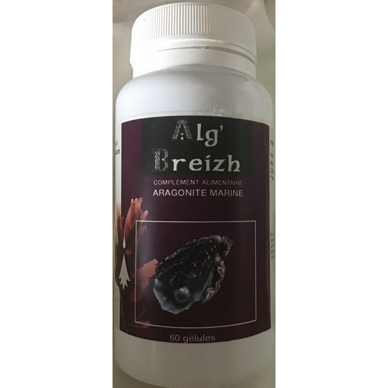 Gélules d'aragonite du labo Alg'Breizh en vente à Shanti Breizh à Trégunc dans le Finistère