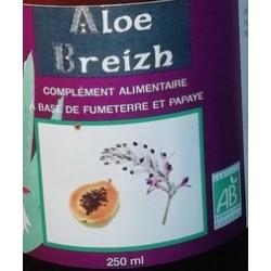 Fumeterre,  papaye et Aloé Véra du laboratoire Alg'Breizh en vente à Shanti Breizh à Trégunc en Bretagne