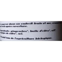 Douceurs épicées, Gingembre à l'ail (condiments, tartinables)  en vente à Shanti Breizh, Trégunc Bretagne Finistère