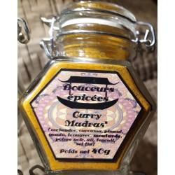 Douceurs épicées, poudre de Curry de Madras  en vente à Shanti Breizh, Trégunc Bretagne Finistère