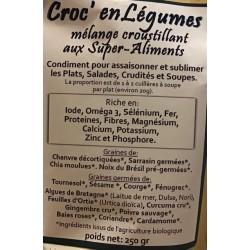 Croc' enVie, Croc' en Légumes, mélange croustillant aux super-aliments, à Shanti Breizh, Trégunc, Finistère Bretagne