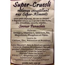 Croc' enVie, Super Cruesli, saveur Panachée aux super-aliments, à Shanti Breizh, Trégunc, Finistère Bretagne
