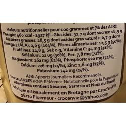 Croc' enVie, Super Cruesli, mélange croustillant aux super-aliments, Cacao Cru, à Shanti Breizh, Trégunc, Finistère Bretagne