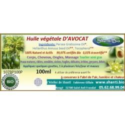 Huile d'Avocat bio 100ml
