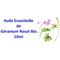 Huile essentielle de géranium rosat bio 10ml