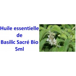 Huile essentielle de basilic sacré Bio 5ml