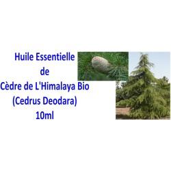 Huile essentielle de cèdre de l'Himalaya bio 10ml