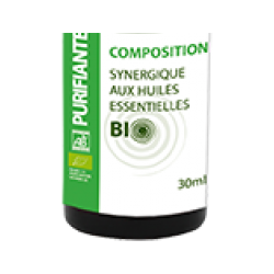 Composition Purifiante Bio, 30 ml 20 huiles essentielles