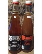 Les sirops de douceurs épicées, au gingembre, curcuma, pain d'épices, caramel fleur de sel, ... , production artisanale bretonne